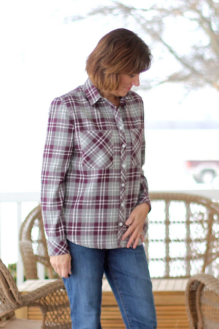 Mood Fabrics' plaid flannel Archer shirts