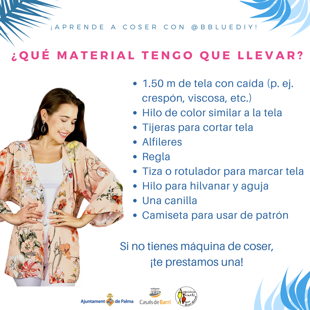 Taller Iniciación a la Costura | KIMONO | B. Blue DIY
