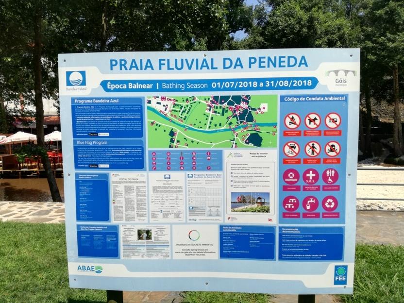 Placa de Informação sobre a Praia Fluvial da Peneda