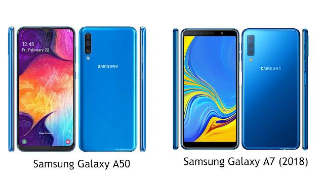 Bandingkan Spesifkasi Samsung Galaxy A50 dengan Galaxy A7