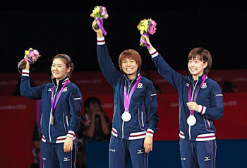卓球女子団体銀メダル