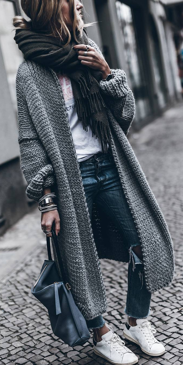 what to wear with maxi cardigans