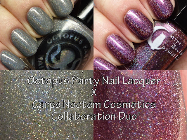 Octopus Party Nail Lacquer X Carpe Noctem Cosmetics Collaboration Duo