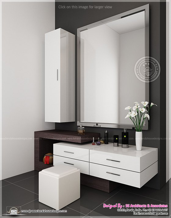 Different Dressing Table Designs By SS Architects, Cochin