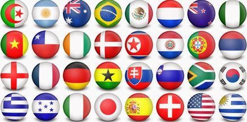 WorldCup Flag-Balls – 32 Icons