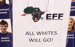 Image result for julius malema racist banner