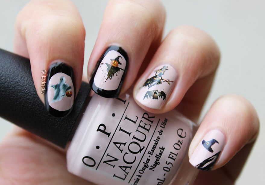 Halloween Nails | Ghosts, Witches & Scarecrows | Evinde's ...