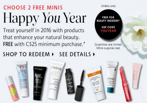 Sephora Happy You Year 2 Free Mini Deluxe Samples Promo Code