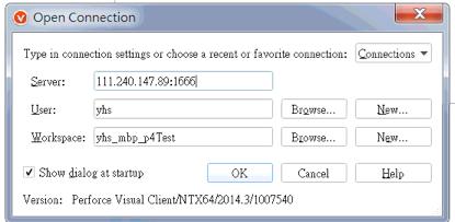 大腦是不可靠的: Perforce Server setup for Internet connection  (Success)