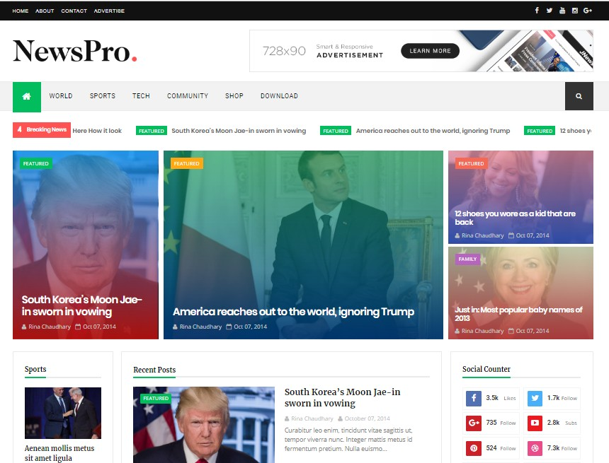 Responsive free Blogger Template