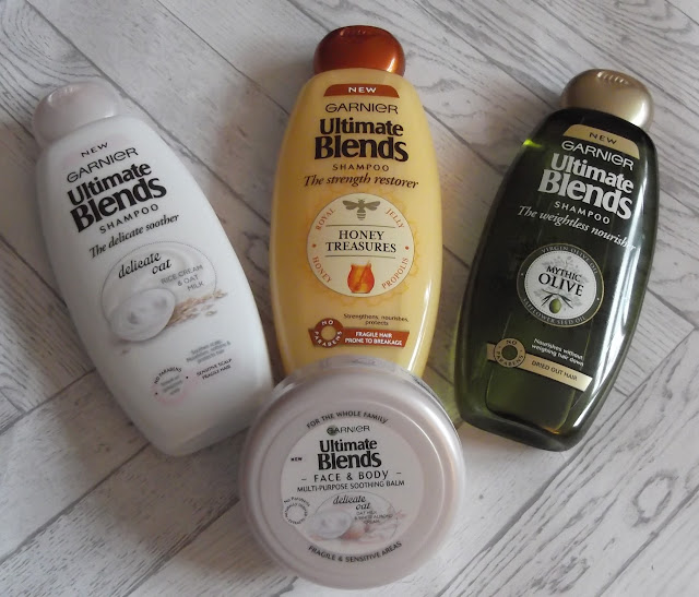 Garnier Ultimate Blends shampoo body balm delicate oat beauty blog review