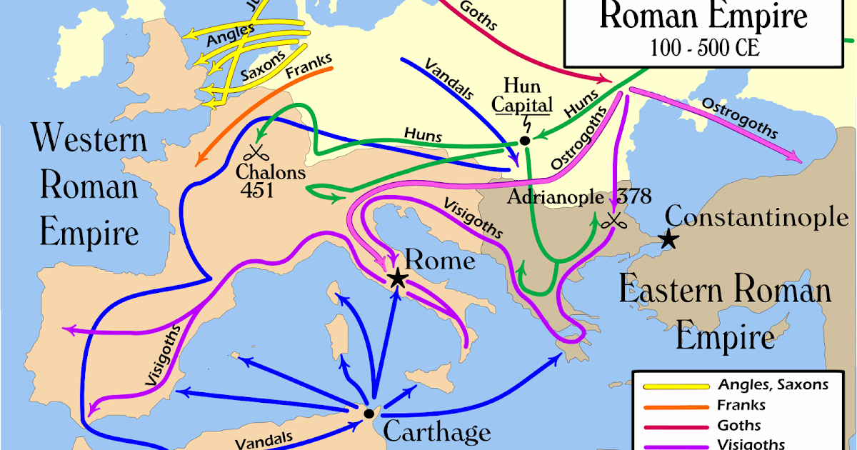 the influence of the barbarians over the eastern and western roman empires The western roman empire the western and eastern divisions each later split while frankistan and bohemia fought for influence over italy in the later.
