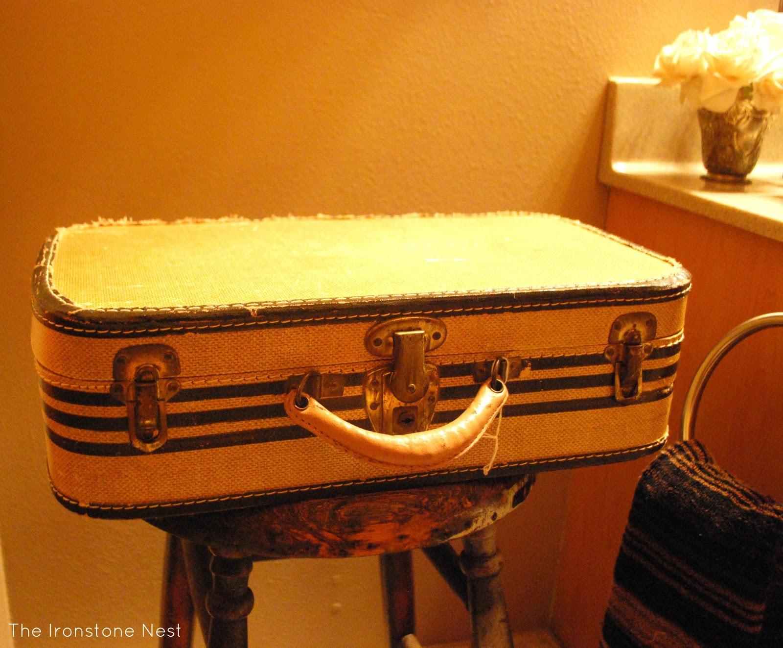 Repurposed Vintage Suitcase