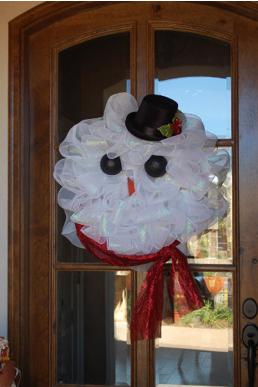 A mi manera hombre de nieve para decorar la puerta en navidad for Como decorar una puerta en navidad