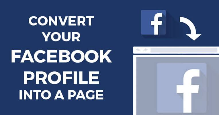 convert fb account to page