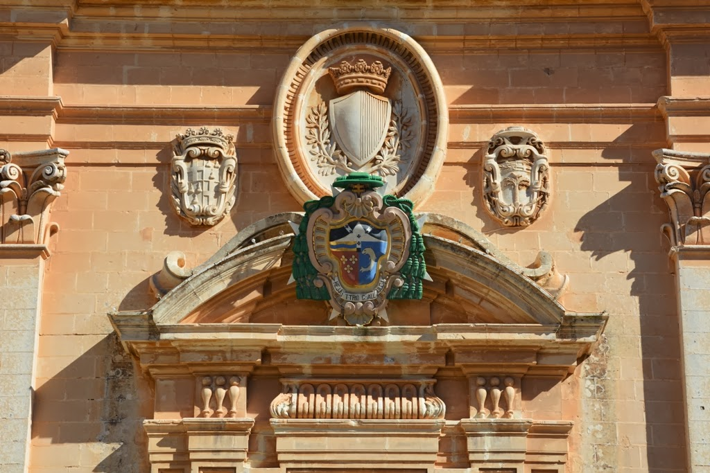 Mdina Cathedral Malta coat of arms