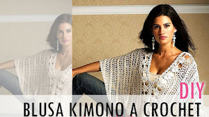 Cómo tejer blusa kimono a crochet / Tutorial