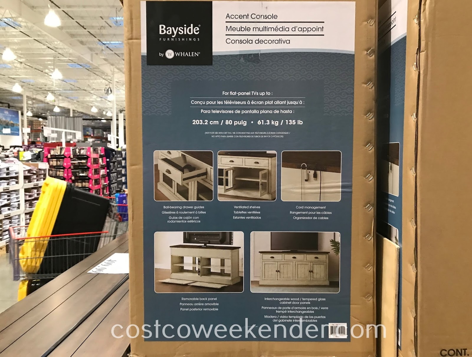 Costco 2000897 - Bayside Furnishings Accent Console: great for your living room or family room