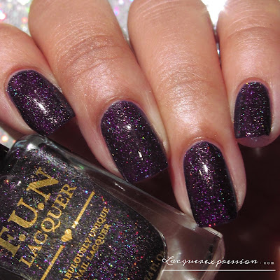 nail polish swatch of moonlight nocturne from the FUN lacquer summer 2015 collection