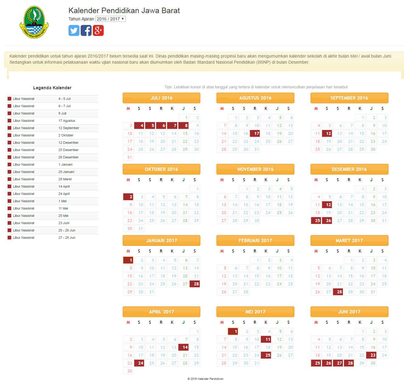 Kalender Pendidikan 2016 Sulawesi Selatan Sdn Kaduara Barat 3 Kalender Pendidikan Tahun 2016