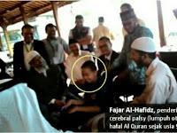 Subhanallah DR Zakir Naik Minta Doa ke Fajar (Anak Lumpuh Otak Yang Hafal Quran)