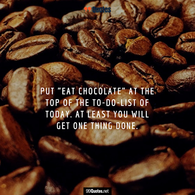 funny food and chocolate quote