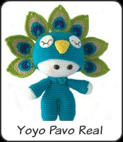 Amigurumi Yoyo Pavo real