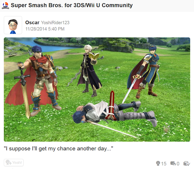 Ike Marth Robin Chrom Super Smash Bros. For Wii U suppose I'll get my chance another day trophies Fire Emblem