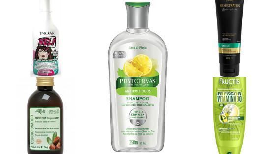 produtos para cabelos mistos oleosos low poo