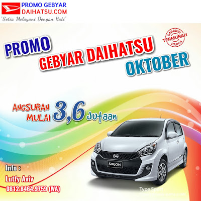 Promo Daihatsu Sirion di Bulan Oktober 2017