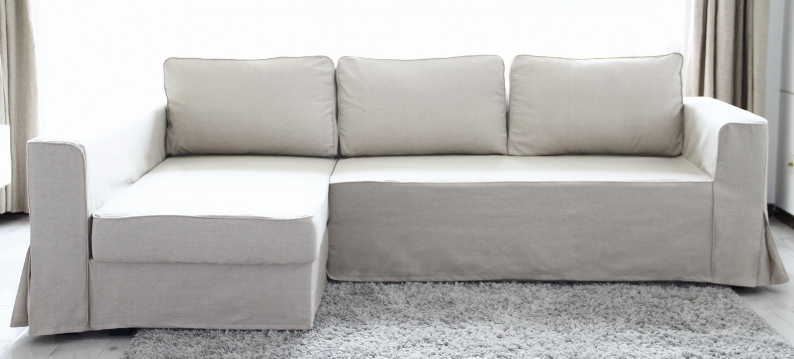 Sectional Sofa Covers Cheap Rattan Corner Sofas Click Clack Bed   Chair Modern Leather ...