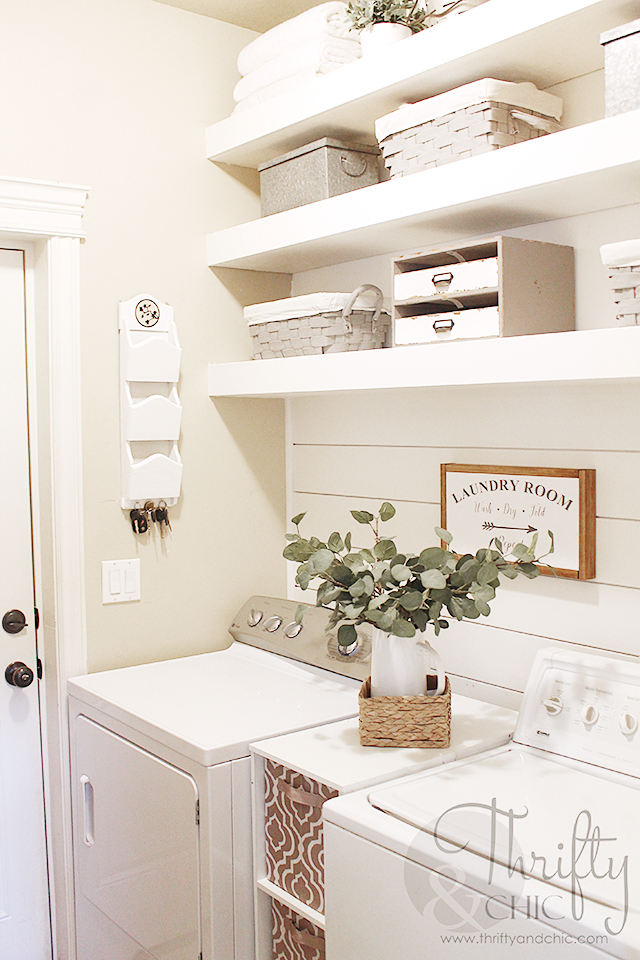 Small Farmhouse Laundry Room Makeover And Organization Ideas DIY On A Budget