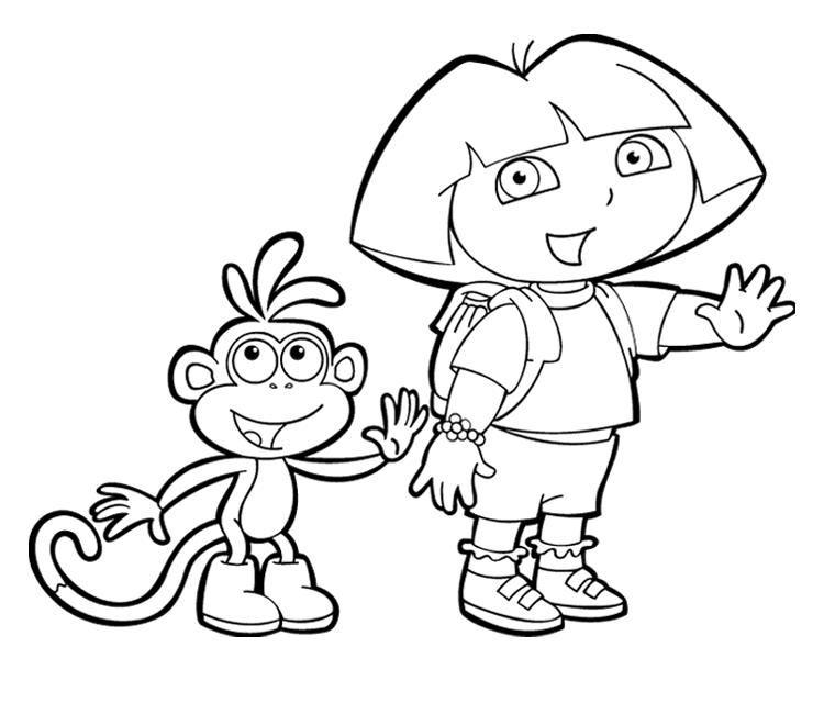 Dora coloring pages flute coloring pages for Dora the explorer coloring page