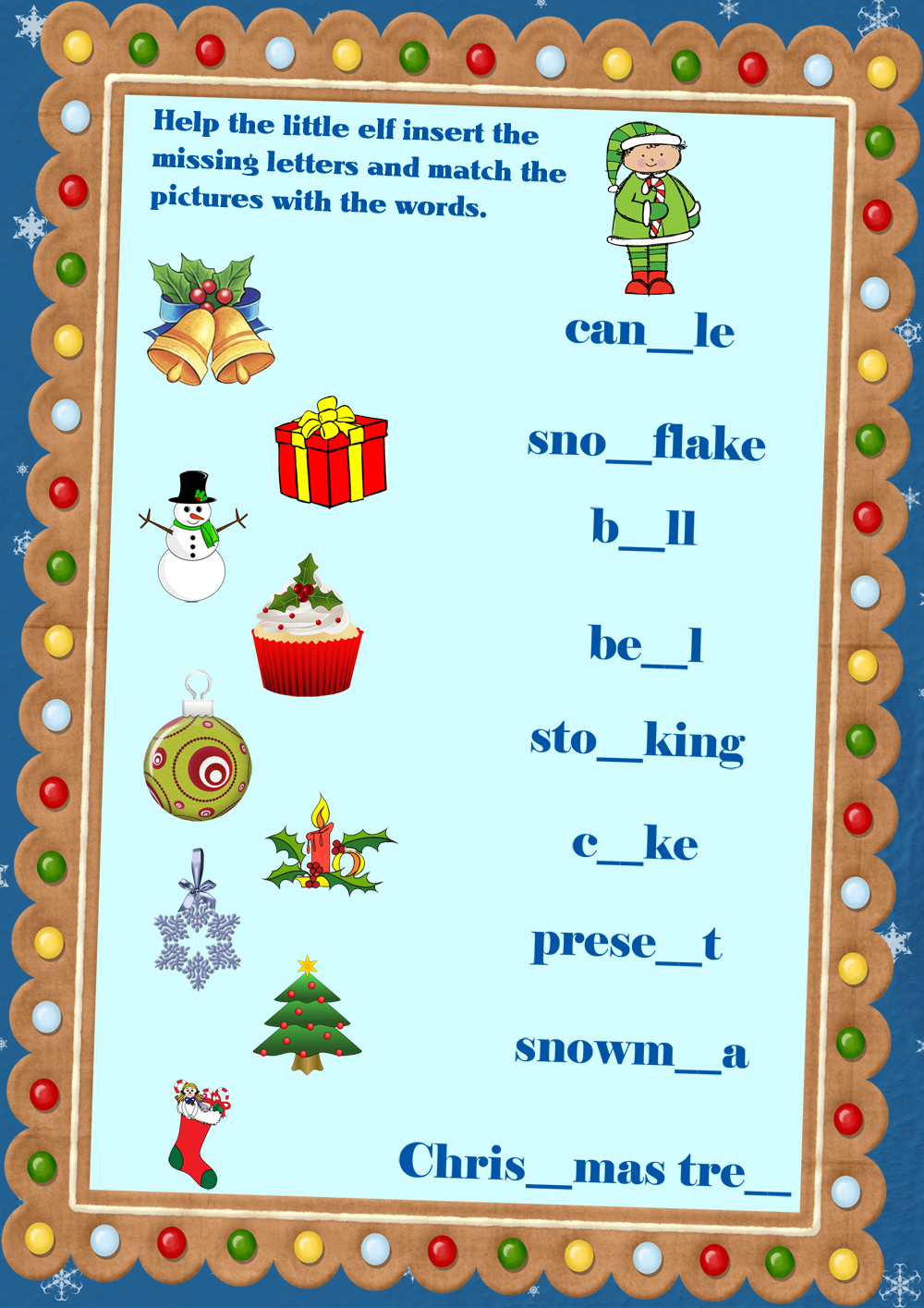 Christmas Fun Song for Kids (+ Flashcards)