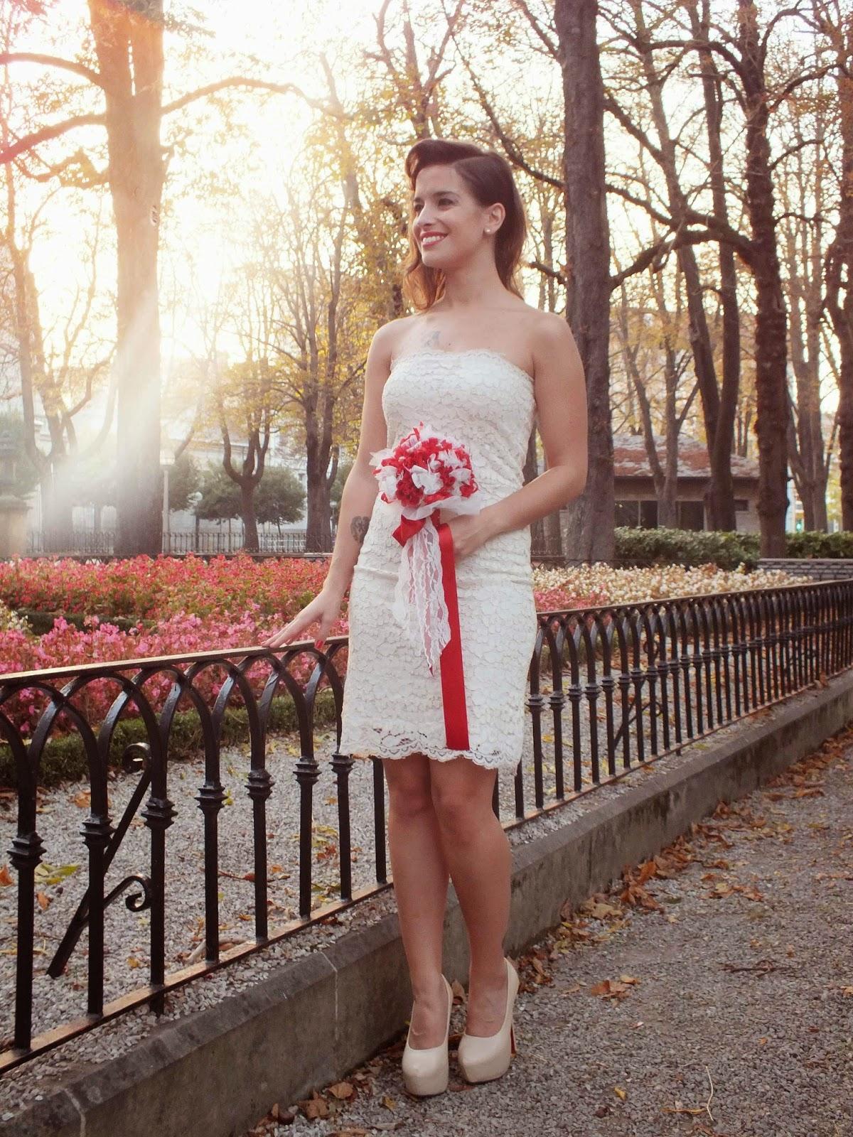 Conjuntos Boy fuego vestido de novia blanco