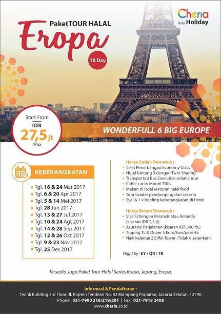 Paket Tour Halal Eropa Promo 2017 Travel Pelopor Paket Tour Wisata Halal Dunia