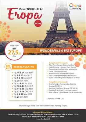 Paket Tour Halal Eropa Promo 2017