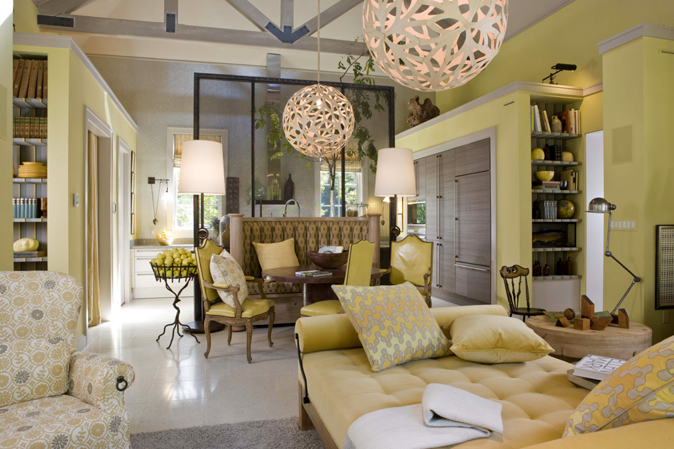 yellow and green living room mix and chic cool designer alert barry dixon 21234