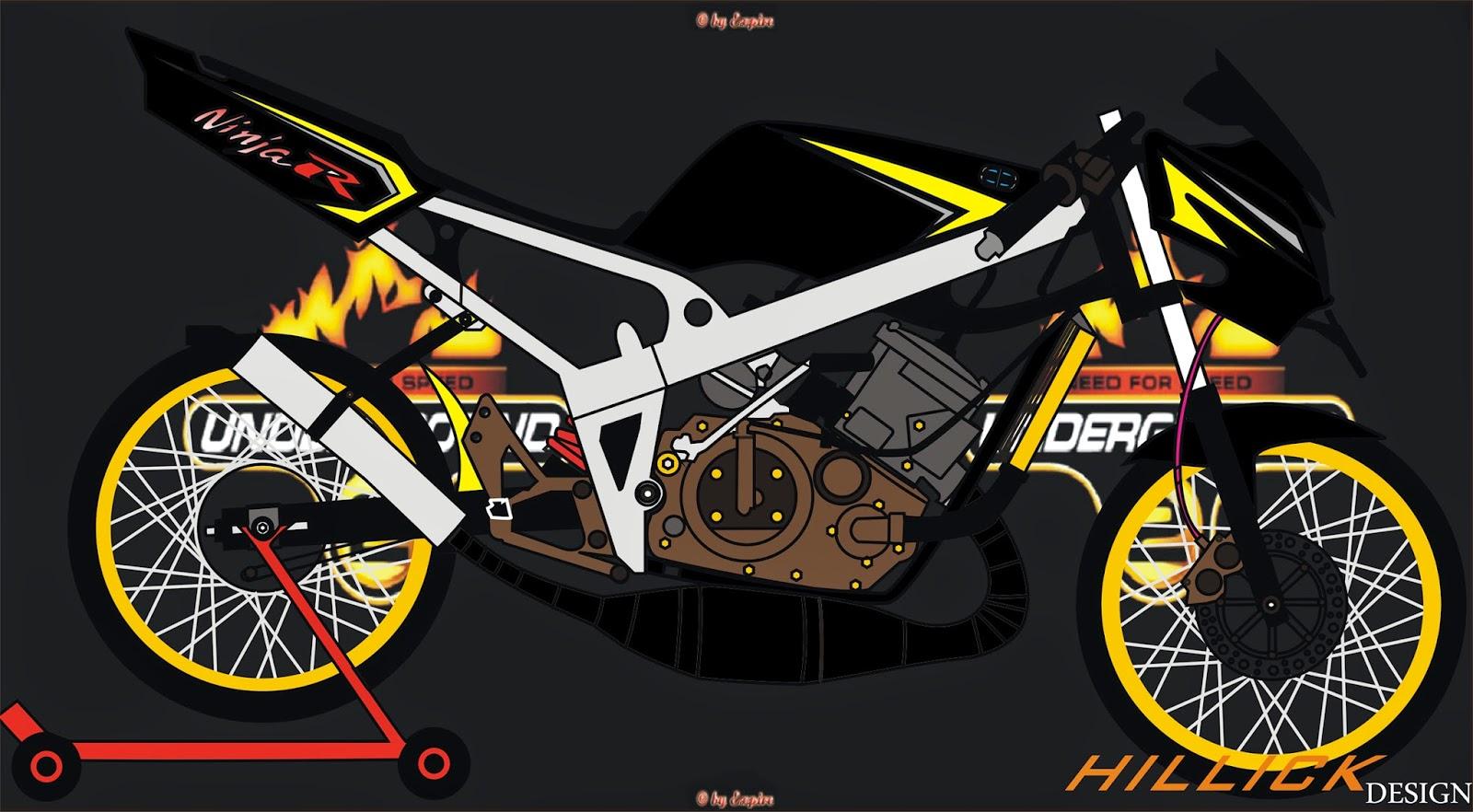 Kumpulan 96 Gambar Sketsa Motor Ninja Drag Terbaik Motor Jepit