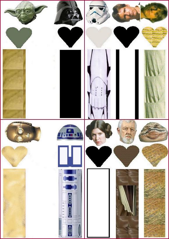 Star Wars: Envoltorios Especiales para Golosinas, para Imprimir ...