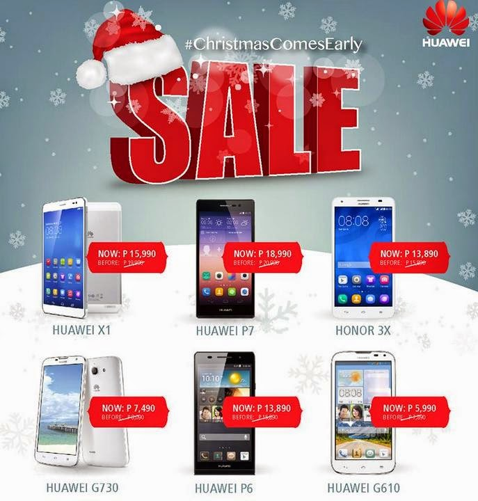 Huawei android smartphones early christmas sale 2014 for O tablet price list 2014
