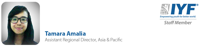 Tamara Amalia, IYF Assistant Regional Director, Asia & Pacific