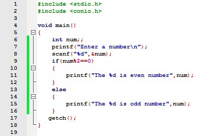 About Codes: If – else statement in c with example