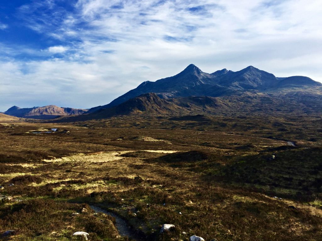 Epic mountain chain of the Cuillin Hills Scotland