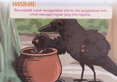 burung gagak dan sebuah kendi