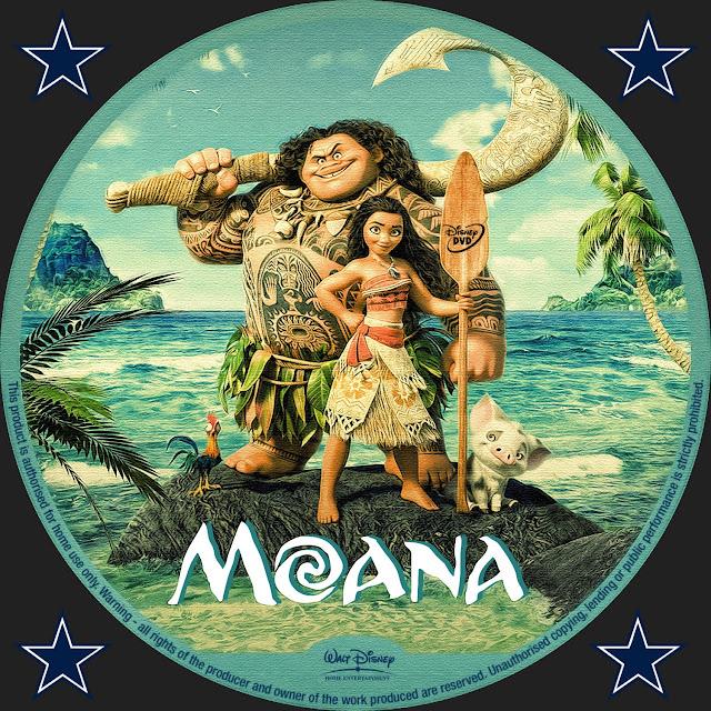 Label DVD Moana