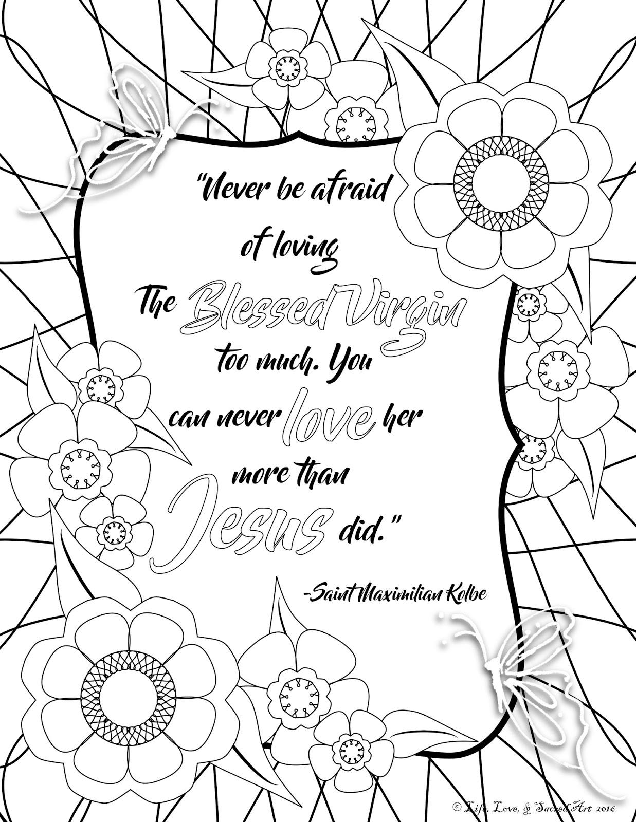 life love u0026 sacred art coffee and crayons free marian quote
