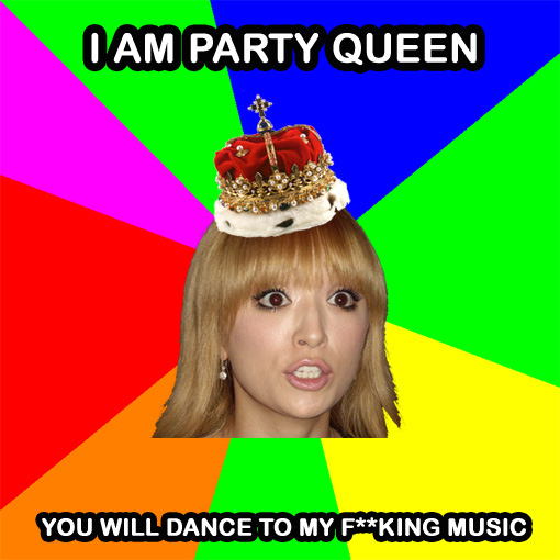 Ayumi Hamasaki - I am party queen | Ayu meme image created by Random J