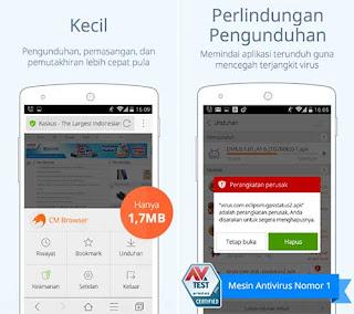 CM Browser - Aplikasi Web Android Cepat
