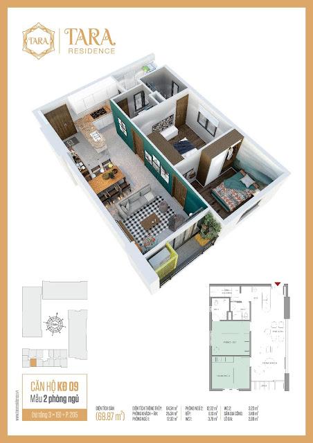 Sang Nhượng lại căn hộ dự án Tara Residence quận 8 Tạ Quang Bửu giá tốt nhất  2